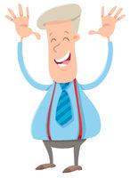 happy businessman cartoon character
