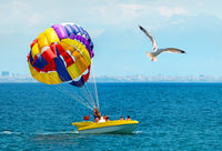 Parachute on sea