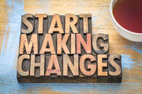 Start making changes - text in wood type