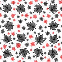 red and black modern autumn chestnut leaf seamless wallpaper design
