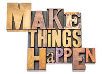 Make things happen - word abstract