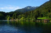 Wössner See bei Unterwössen im Chiemgau, Bayern, Deutschland