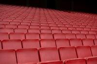 Red seat row in stadium