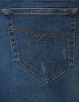 Blue washed jeans denim with pocket