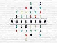Construction concept: Building in Crossword Puzzle