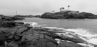Cape Neddick Lighthouse Nubble Island Rock in York Maine
