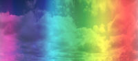 LGBT rainbow gay flag over sky background. space for text