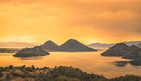 Skadar Lake National Park at dusk