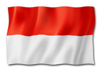 Indonesian flag isolated on white