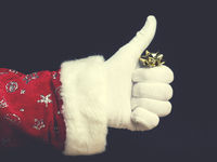 Hand of Santa with thumb up