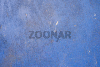 blue retro textured wall background with copy space.