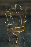 Golden Decorative Mini Wrought Iron Chair