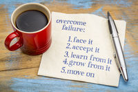 overcome failure tips on napkin