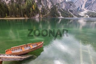 Rowboat at the dock