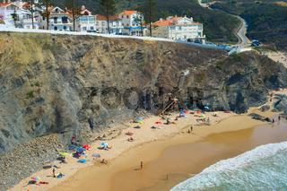 People ocean beach Portugal