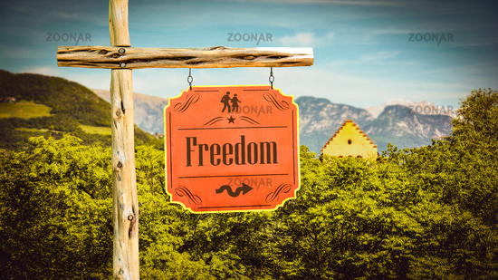 Street Sign to Freedom