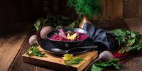 Borschtsch an eastern european classic with red prayer