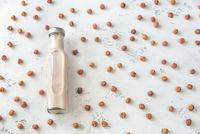 Bottle of hazelnut milk