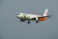Air China Airbus A321 commercial airplane against sky