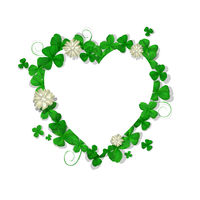 Saint Patricks Day heart frame