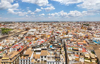 Cityscape view of Seville from the top of the Giralda.