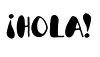Hola! - Modern calligraphy, lettering