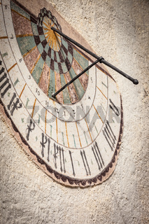 Sundial at church