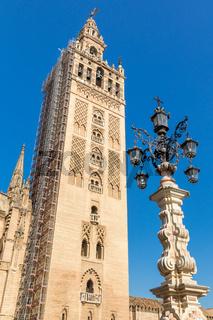 Der Giralda Glockenturm, Sevilla, Andalusien, Spanien, Europa