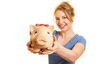 Sparschwein als Angebot zum Geld sparen