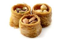 Bird nest baklava