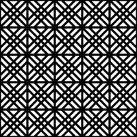 Seamless pattern based on japanese woodwork art.Black and white color.Rounded corners.