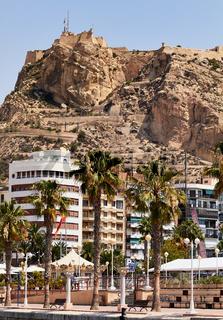 Alicante Marine and the castle