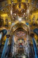 Interior of La Martorana church in Palermo, Sicily, Italy