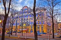Vienna street architecture dusk view