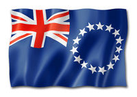 Cook Islands flag isolated on white