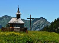 Bregenzerwald; Kapelle bei der Wurzach-Alpe; bei Mellau an der Bregenzer Ache;