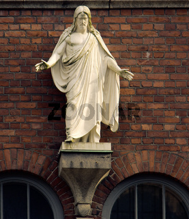 Street figure of Jesus Christ in Helsinki