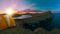 outdoor camping cliff