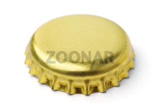 Golden blank bottle cap