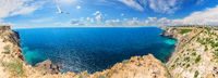 Cape Fiolent in Crimea, beautiful sea panorama