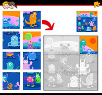 jigsaw puzzles with monster characters