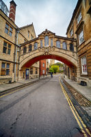 Hertford bridge or the Bridge of sighs. Oxford University. Oxford. England