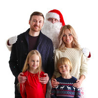Family portrait with Santa Claus