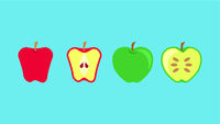 Apple Fruit Banner Vector