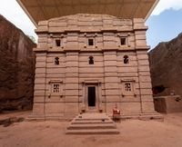 Biete Amanuel underground Orthodox monolith Lalibela, Ethiopia