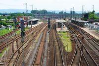 Schienennetz Hauptbahnhof Hanau