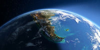 Detailed Earth. South America. Tierra del Fuego