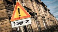 Street Sign to Emigrate