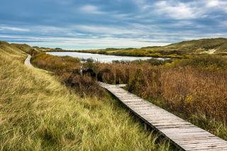 Landschaft mit See auf der Insel Amrum