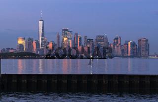 Golden Light Hits the Buildings of Manhattan at Dusk